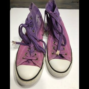Unisex Ombre Purple Converse Great Used Condition